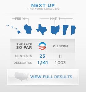 Carte sur le site d'Obama