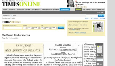 Times online Archives