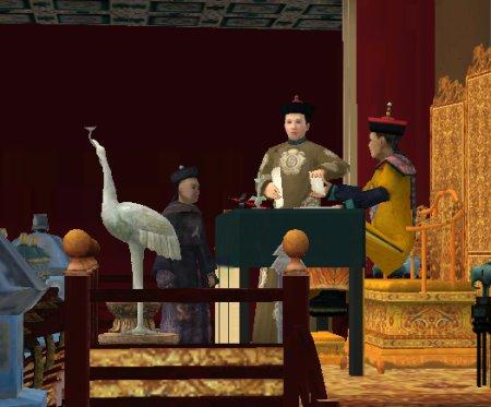 L'empereur en train de lire des rapports