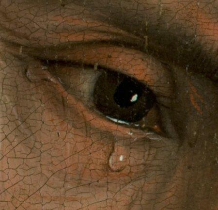 Détail du tableau de Roger van der Weyden, Descente de la Croix