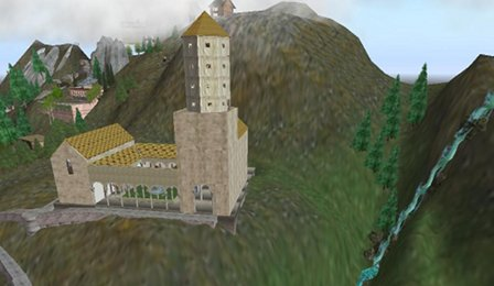 Le Monastère sur son sim