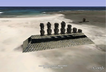 Moai dans Google Earth