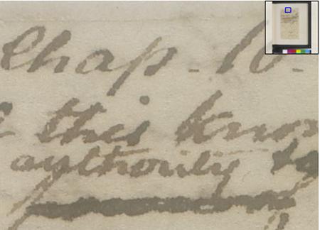 Extrait d'un manuscrit de Jane Austen numérisé