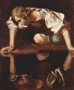 Narcisse par le Caravage