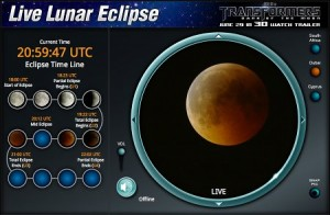 Eclipse de lune sur Slooh