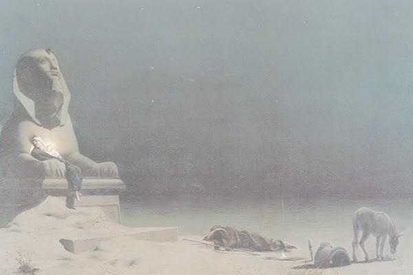 Luc Olivier Merson, Repos pendant la fuite en Egypte, 1879, Museum of Fine Arts