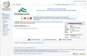 Wikipdia &quot;Archologie suisse&quot;