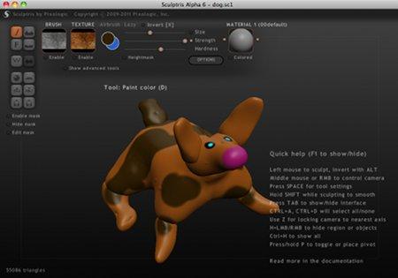Créature éditée avec Sculptris