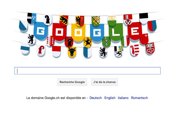 Google Dooddle pour le 1er août